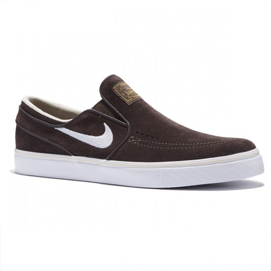 Nike Zoom Stefan Janoski Slip-On Shoes - Cappuccino/White/Gold/Sand - 9.0