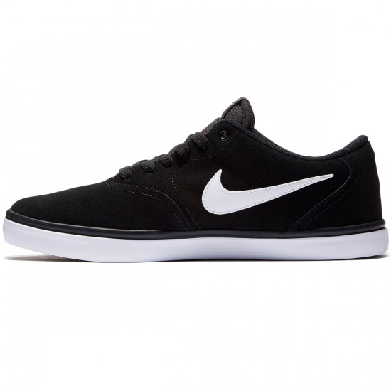 Nike SB Check Solarsoft Shoes - Black/White - 7.0