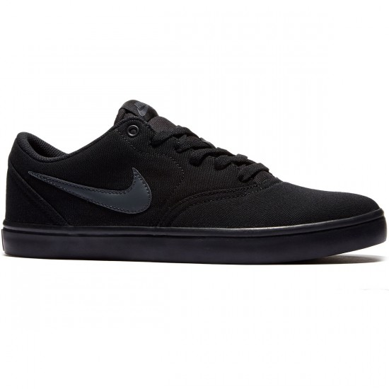 Nike SB Check Solarsoft Shoes - Black/Anthracite - 8.0