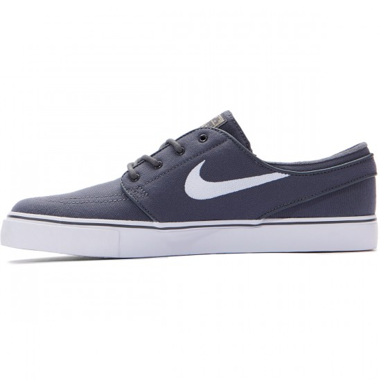 Nike Zoom Stefan Janoski Canvas Shoes - Dark Grey/White Gum/Light Brown - 8.0
