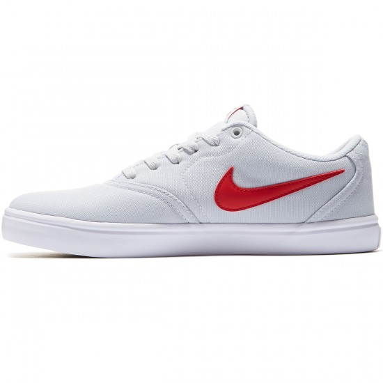 Nike SB Check Solarsoft Shoes - Pure Platinum/White/Red - 7.0