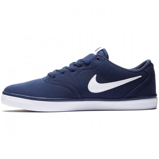 Nike SB Check Solarsoft Shoes - Midnight/Navy/White - 8.0