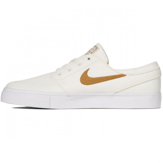 Nike Zoom Stefan Janoski Canvas Shoes - Sail/Golden Beige - 7.0