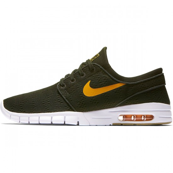 Nike Stefan Janoski Max Shoes - Sequoia/Circuit Orange/Gum Brown - 7.5
