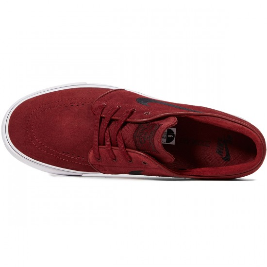 Nike Zoom Stefan Janoski Shoes - Dark Team Red/Black - 7.0