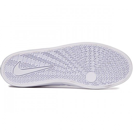 Nike SB Check Solarsoft Shoes - White/White/Black - 7.0