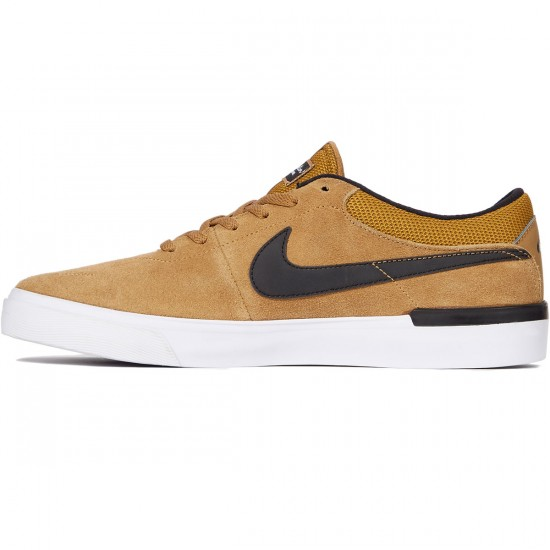 Nike SB Koston Hypervulc Shoes - Golden Beige/Black - 8.0