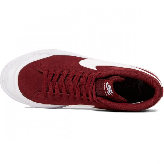 Nike SB Zoom Blazer Mid XT Shoes - Dark Team Red/White Gum/Brown - 6.0
