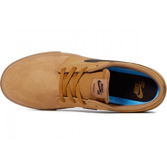 Nike SB Solarsoft Portmore II Shoes - Golden Beige/Black Gum/Brown - 6.0