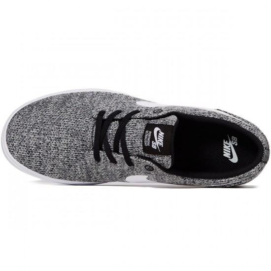 Nike SB Portmore II Ultralight Shoes - Black/White/Wolf Grey - 6.0