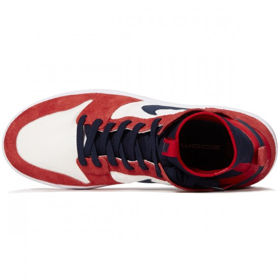 Nike SB Zoom Dunk High Elite Shoes - University Red/College Navy/White - 8.0