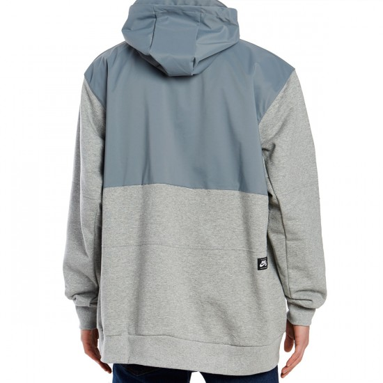 Nike SB Everett Repel Anorak Hoodie - Cool Grey/Dark Grey Heather