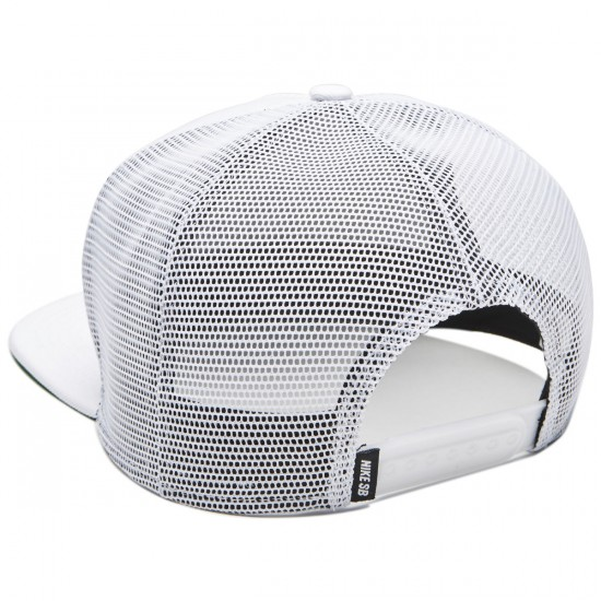 Nike SB Reveal Trucker Hat - White/Black/Pine Green