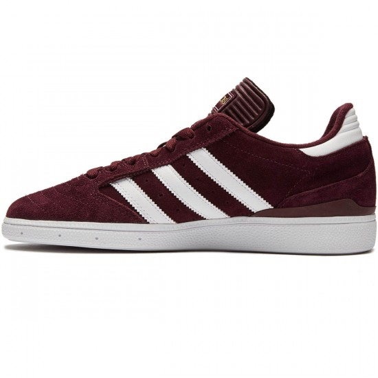 Adidas Busenitz Shoes - Light Maroon/White/Metallic Gold - 8.0