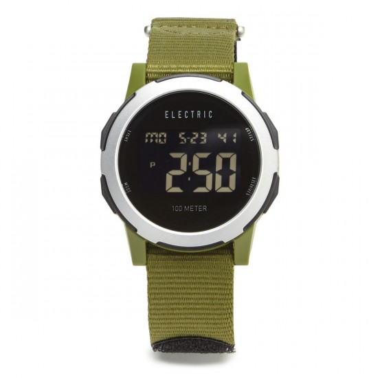 Electric Prime Watch - Silver/Olive