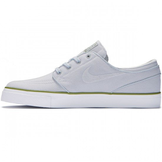 Nike Zoom Stefan Janoski Canvas Shoes - Wolf Grey/Wolf Grey/Palm Green - 7.0