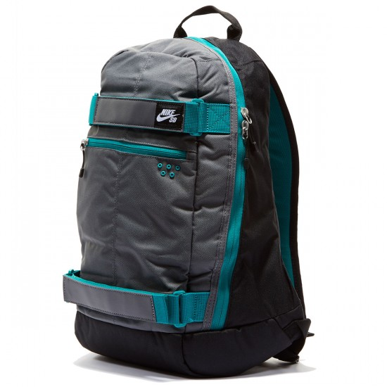 Nike SB Embarca Backpack - Black/Dark Grey/Rio Teal