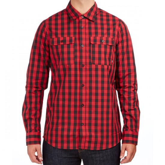 Nike SB Buffalo Check Woven Long Sleeve Shirt - Black