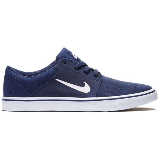 Nike SB Portmore Shoes - Midnight/Navy/Gum/Brown/White - 8.0