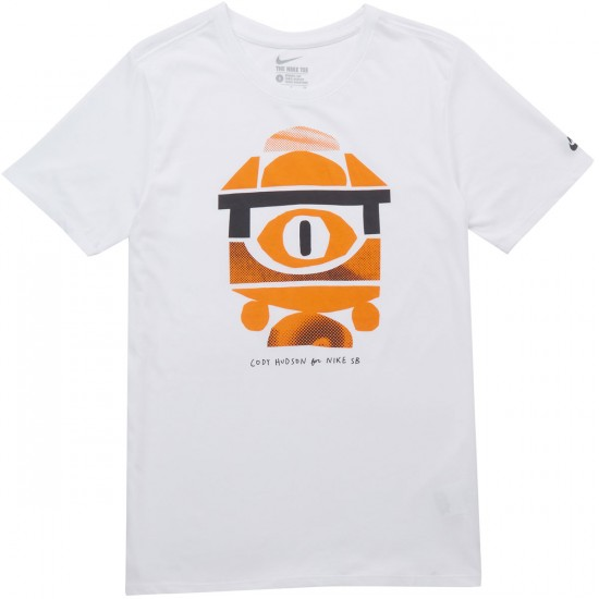 Nike SB Ch 1 T-Shirt - White/Clay Orange/Anthracite