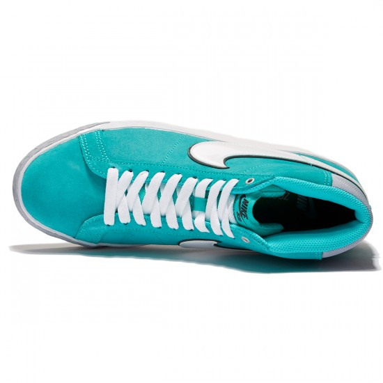 Nike SB Blazer Premium Berlin QS Shoes - Hyper Jade/White/Grey - 6.5