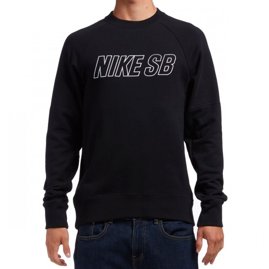 Nike SB Everett Reveal Crew Sweatshirt - Black/White