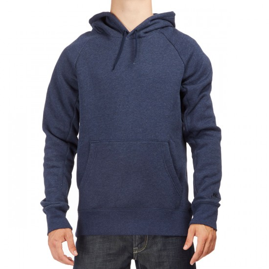 Nike SB Icon Ripped Hoodie - Obsidian Heather/Dark Obsidian
