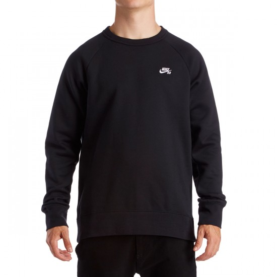 Nike SB Icon Sweatshirt - Black/White