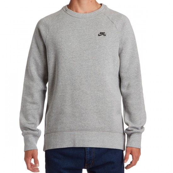 Nike SB Icon Sweatshirt - Dark Grey Heather/Black