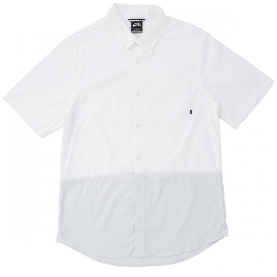 Nike SB Holgate Blocked Shirt - White/Pure Platinum