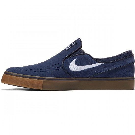 Nike Zoom Stefan Janoski Slip-On Shoes - Obsidian/Gum/Light Brown/White - 7.0