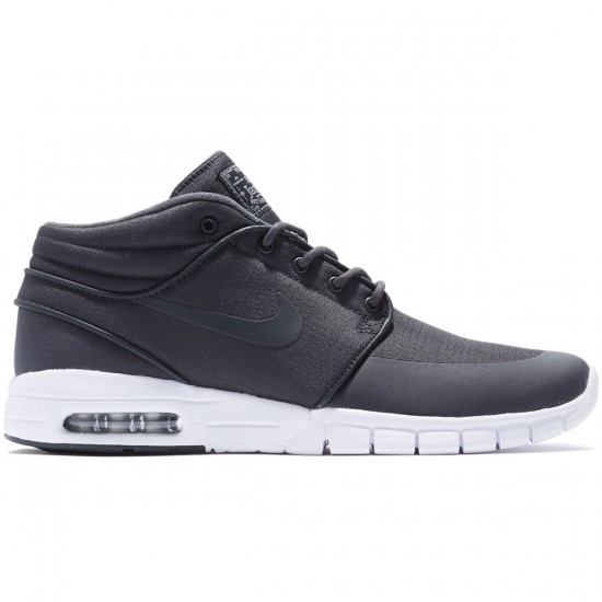 Nike Stefan Janoski Max Mid Shoes - Anthracite/Anthracite Metallic/Silver White - 8.0