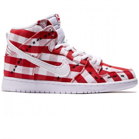 Nike Dunk High Pro SB Shoes - Red/White/White - 8.0