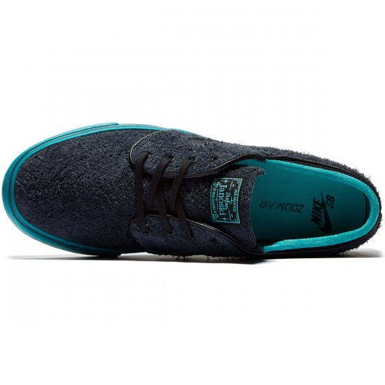 Nike Zoom Stefan Janoski Shoes - Black/Rio Teal/Jade/Black - 8.0