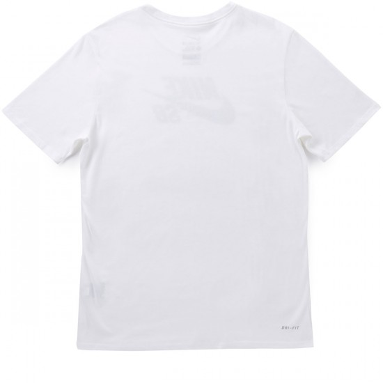 Nike SB Icon Dots T-Shirt - White/Black