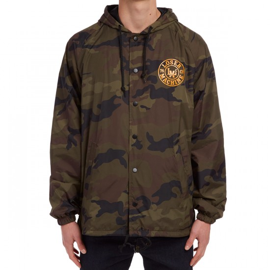 Loser Machine Lookout Hooded Coaches Jacket - Camo