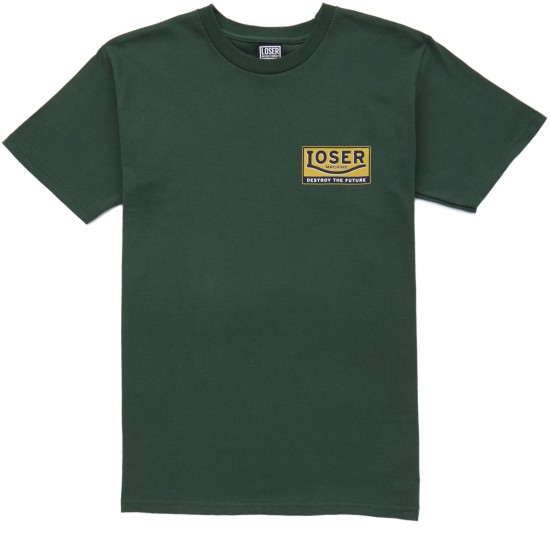 Loser Machine Lunch Pail T-Shirt - Forest Green