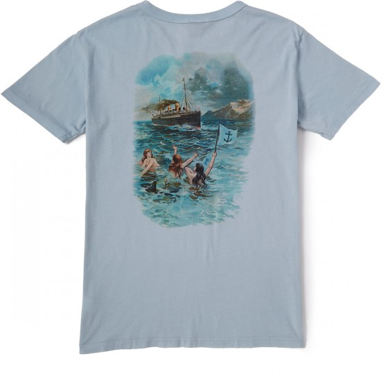 Dark Seas Welcome Home T-Shirt - Pearl Blue