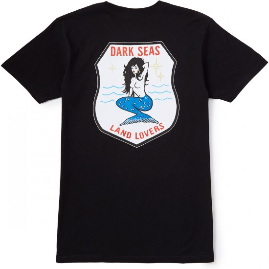 Dark Seas Land Lover T-Shirt - Black
