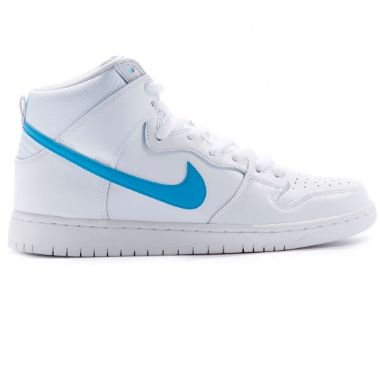 Nike SB Dunk High Mulder QS Shoes - White/Orion Blue/White - 4.0