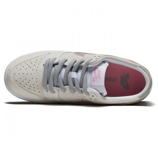 Nike Dunk Low Pro Ishod Wair Shoes - White/Pefect Pink/Silver - 6.0