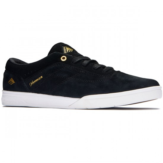 Emerica The Herman G6 Shoes - Black/White/Gold - 8.0