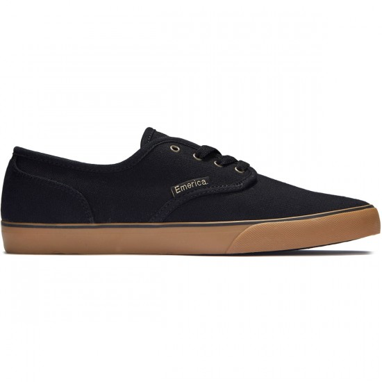 Emerica Wino Cruiser Shoes - Black/Gum - 10.0