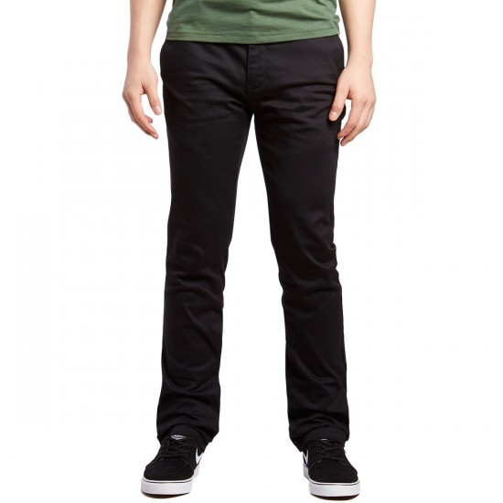 Altamont Davis Slim Chino Pants - Black/Charcoal