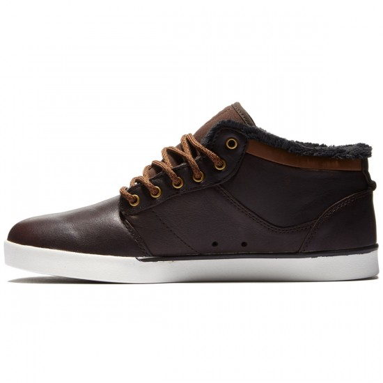 Etnies Jefferson Mid Shoes - Brown/White - 8.5