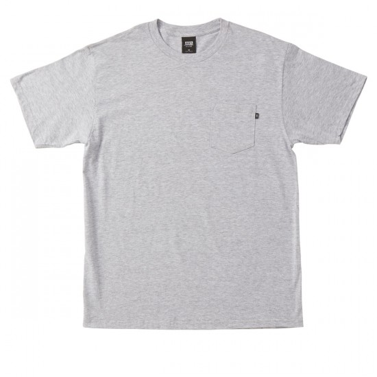 Obey Premium Basic Pocket T-shirt - Heather Grey