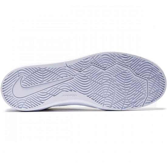 Nike SB Bruin Hyperfeel Shoes - White/White/Blue - 8.0