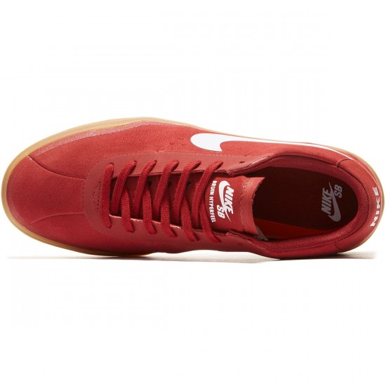Nike SB Bruin Hyperfeel Shoes - Dark Cayenne/Gum/White - 8.0