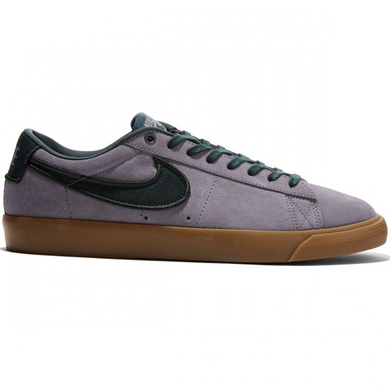 Nike Blazer Low GT Shoes - Gunsmoke/Black Spruce/Gum Light Brown - 8.0