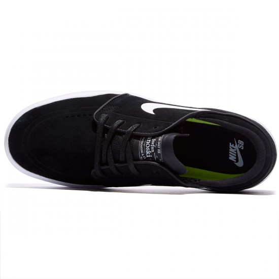 Nike SB Stefan Janoski Hyperfeel Shoes - Black/White - 7.5
